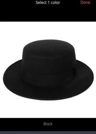 Шляпа федора новая размер универсальный с регулировкой  57