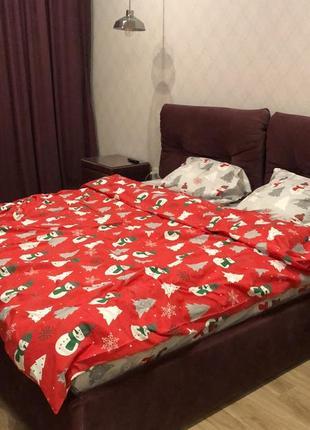 Снеговички микс - новогоднее турецкое постельное