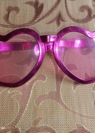 """Подарок к покупке от 60 грн-очки """"сердечки"""" большие карнавальные"""