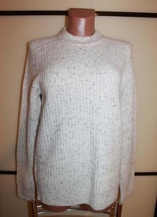 Стильный свитер с шерстью   marks & spencer  м  на 44-46 р