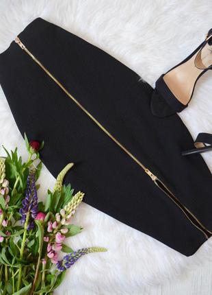 Шикарная юбка миди, спереди замочек
