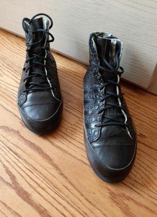 Кожаные ботинки швейцарского бренда kunzli