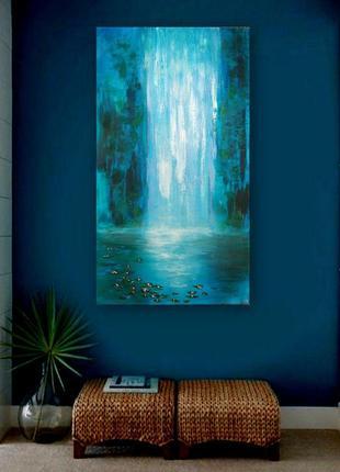 """Картина """"поток"""", 90х50 см, акрил."""