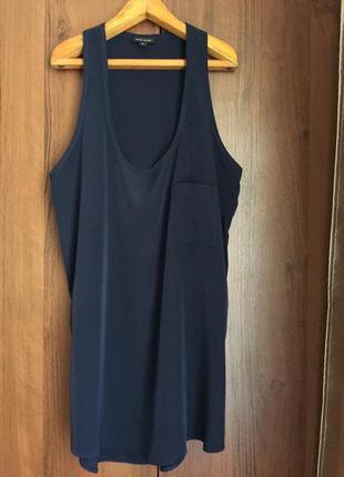 Очень крутая блуза/туника /топ в синем цвете river island