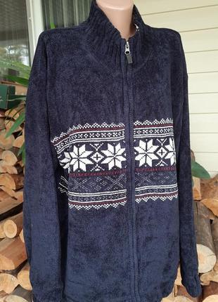 Вязаный мужской свитер на змейке на подкладе