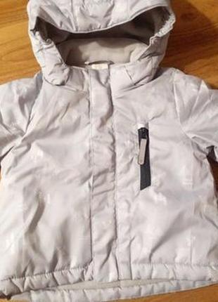 H@m курточка на флисе мальчику рост 68 (4-6 месяцев)