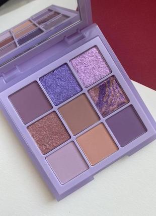 Палетка теней huda beauty lilac pastel obsessions