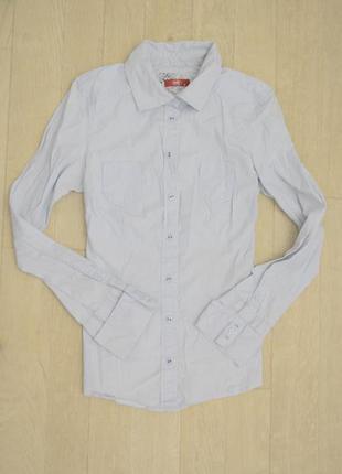 Нежно синяя рубашка размер м