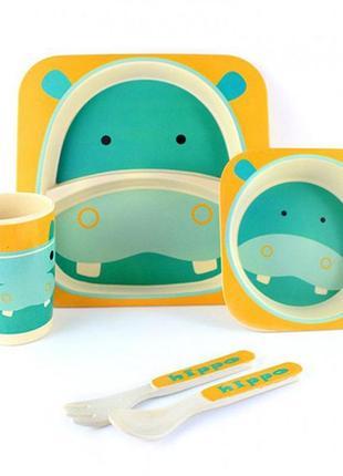 Посуда для детей из бамбука, бамбуковая посуда