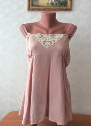 Красивая натуральная летняя блуза. размер l-xxl.