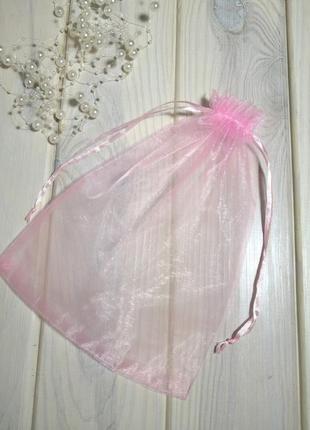 16х23 см мешочек подарочный из органзы с лентами pink probeauty