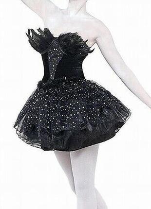 Карнавальное платье в черный лебедь хэллоуин halloween