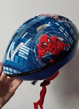 Защитный шлем вело велошлем человек паук спайдермен marvel