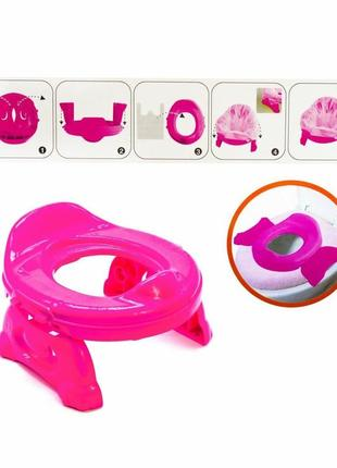 Детский дорожный горшок travel potty для девочки (розовый)