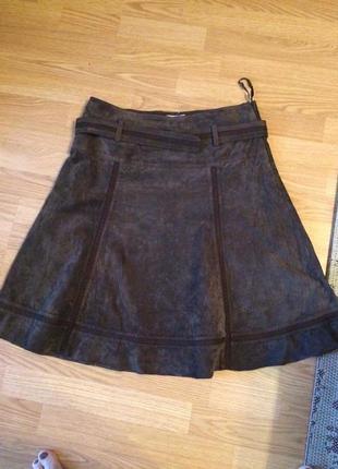Замшевая юбка promod,франция,оригинал