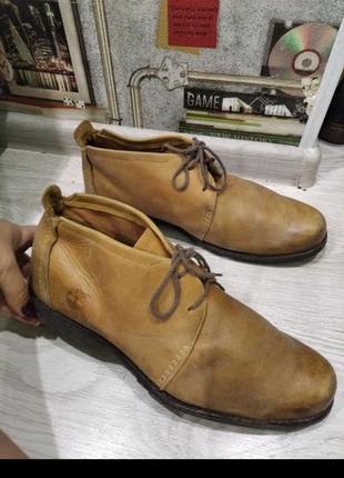 Кожаные ботинки туфли сапоги