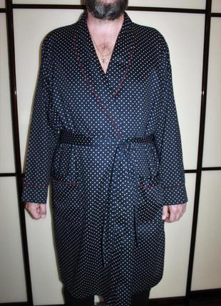 Мужской котоновый халат  на запах под пояс marks & spencer l 185/100 а