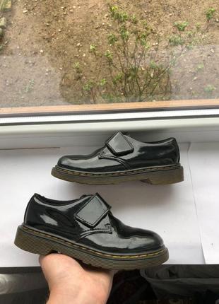 Детские лакование туфли dr. martens ботинки