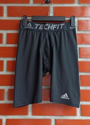 Adidas techfit чёрные мужские лосины трусы рашгард размер м