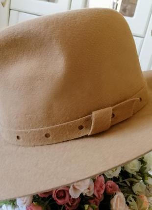 Фетровая шляпа в стиле модерн, новая, размер 56.