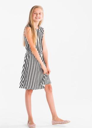 Акция. стильное вискозное полосатое платье c&a