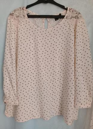 Сезон оригинальных блуз -  пудровая нежная блуза кружево р. 50-52 от atmospherer