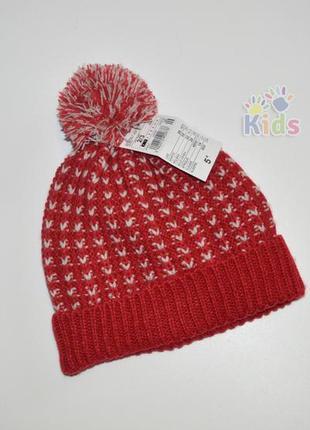 Подвійна тепла шапка на флісі kiabi 1,5-3 рочки