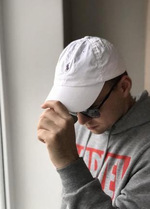 Оригинальная белая кепка ralph lauren ( не lacoste,tommy,zara )
