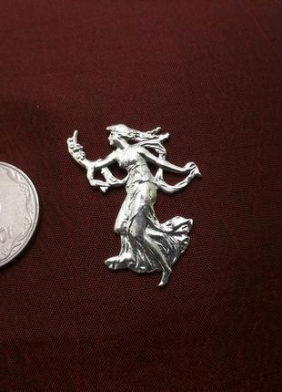 Старинная заколка, серебро, 925 проба. англия
