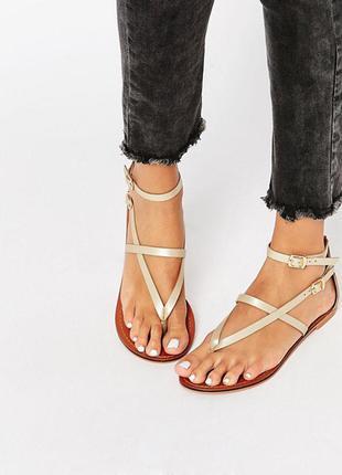 Кожаные сандалии asos forceful