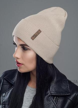 Стильная осенняя шапка