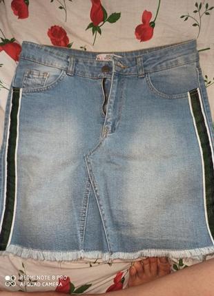 Новая юбка женская джинсовая
