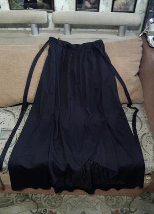 """Длинная,черная юбка в пол,на """"запах"""" vera mont"""