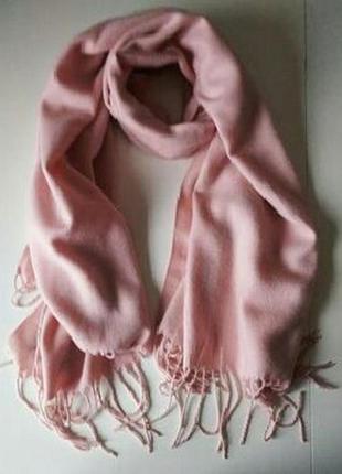 Изысканный розовый шарф, палантин acne studios, 100% овечья шерсть
