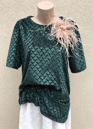 Винтаж,велюровая,бархат блуза,футболка,кофточка,большой размер