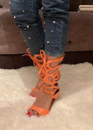 Сандалии шнуровка