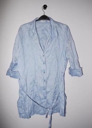 Mango летнее платье - рубашка .  коттон ( под джинсу ) новое  (сток )