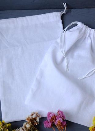Эко мешочек белый, эко торбочка, еко торба, тканевой многоразовый мешок