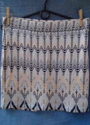 Оригинальная юбка miss selfridge / блестящая юбочка на резинке
