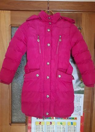 Супер-пальто цвета фуксии. зима. рост 122.