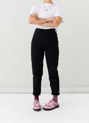Новые чёрные джинсы мом ,слоучи ,бананы ,бойфренд mom 🖤