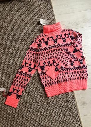 Новый свитер олени   под горло
