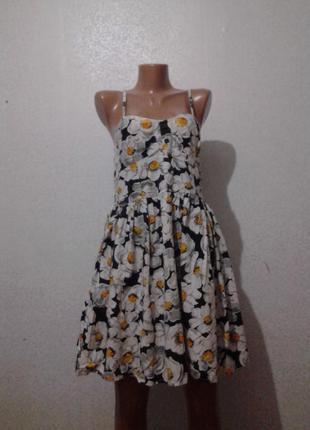 Летнее платье сарафан цветочный принт