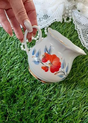Сливочник соусник ссср фарфоровый с ручной росписью кремгэс редкий 70-х годов
