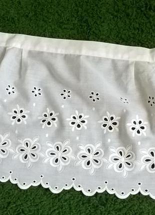 Шикарный фартушок вышивки решелье.