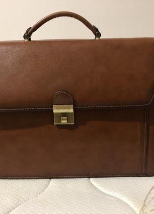 Чоловічий шкіряний портфель