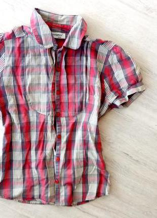 Клетчатая летняя рубашка атм размер с 8