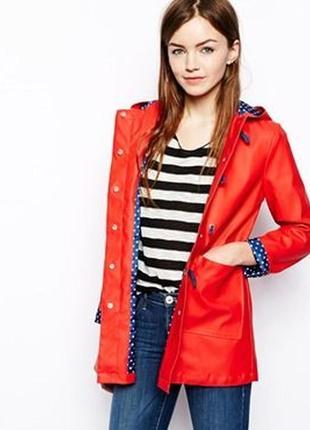 Красный дождевик бренд asos