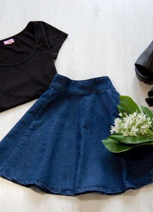 Джинсовая юбка-солнце / denimco от h&m