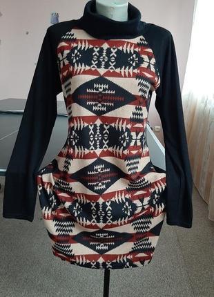 Платье-туника демисезонное трикотажн.48-50р